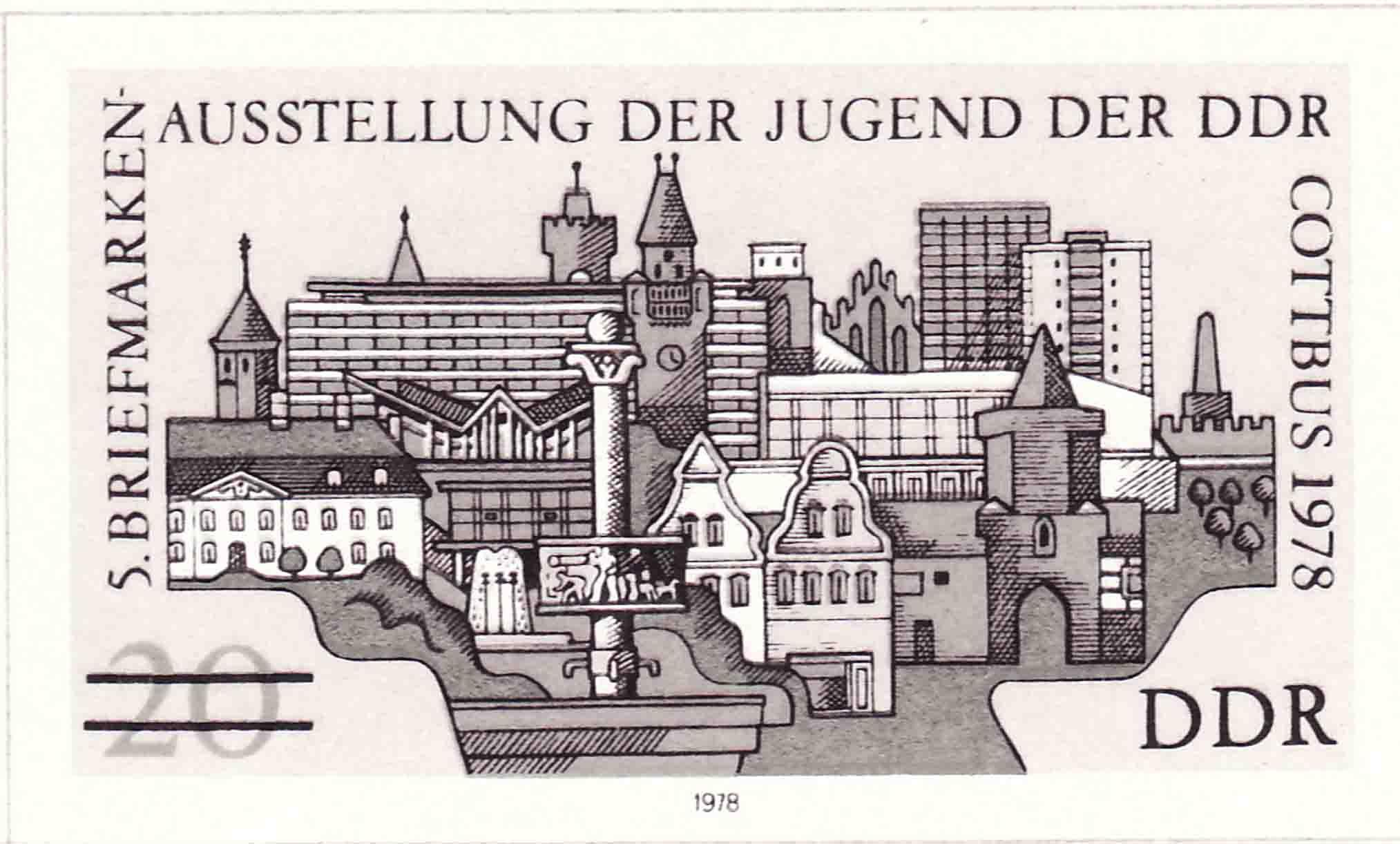 Briefmarken-Austellung der Jugend der DDR Cottbus 1978